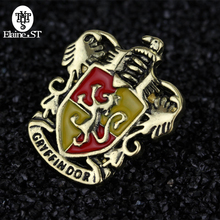 Hogwarts Slytherin Gryffindor Ravenclaw Hufflepuff brooch in Brooches Cheap broches pins badge For Men Women(China)