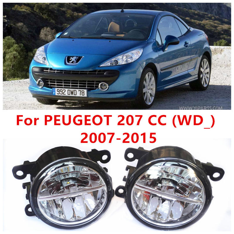 For PEUGEOT 207 CC (WD_) 2007-2015 Fog Lamps LED Car Styling 10W Yellow White 2016 new lights<br>