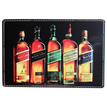 JOHNNIE WALKER Vintage Metal Wine Sign Retro Tin Home decor Plaque Liqueur Plate for Beverage dinner party wall art 20x30cm(China)