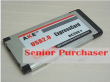 retail+wholesale Notebook laptop netbook express 34mm to USB 2.0 A female Inside card NEW