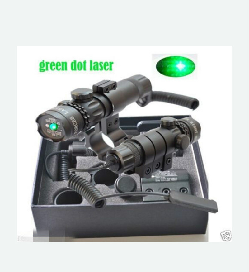 New Tactical Outdoor Green Dot Laser Sight Adjustable Switch Rifle Scope With Rail Mount For Gun Hunting<br><br>Aliexpress
