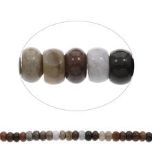 "Natural Indian  Beads Women Jewelry Rondelle 15x8mm 79PCs 15.5"" DIY Making Real Natural Stones Loose Beads"