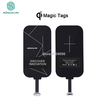 Universal Qi Wireless Charger Receiver Charging Nillkin Magic Tags Coil Micro USB / Type C Adapter For iphone 7 5S SE 6 6S Plus