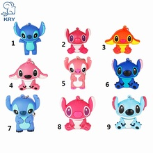 KRY cute mini animal cartoon flash usb2.0 4GB 8GB 16GB 32GB 64GB notebook stick pendrive mini notebook stick free shipping(China)