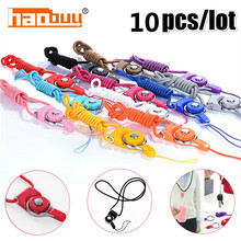 10pcs/lot Colorful Rotatable Detachable Universal Mobile Ring Phone Neck Strap Lanyard for iPhone Samsung LG Key ID PASS Card