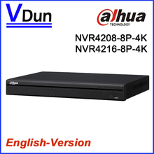 Upgradable  Dahua NVR4208-8P-4K  NVR4216-8P-4K 8CH 16CH 1U  Network Video Recorder With 8 PoE Ports Support 4K IP Camera input