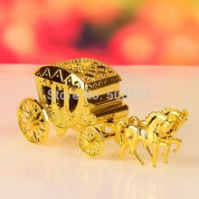 2pcs Cinderella Theme Gold And Silver Royal Carriage Design Candy Gift Boxes Wedding Party Favor Box Wedding Box Party Candy Box