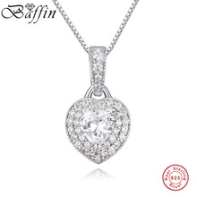 BAFFIN Classic Choker Necklace 925 Sterling Silver Heart Pendants & Necklaces Women Top Quality Jewelry