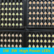 100 PCS 1W 3W LED Diodes Chip LEDs Cold white Natural white Warm white Purple Violet Ice blue Cyan full spectrum 6000K 10000K