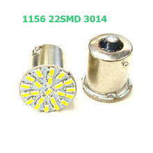 100pcs BA15S P21W 1156 22 LED SMD Car Auto Tail Side Indicator Lights Parking Lamp Bulb White 3014 DC12V