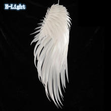 Modern Color Angel wing feather Pendant Light E27 Holder AC90-260V PVC Material Store Art Single Head Dining-room Pendant Lamp(China)