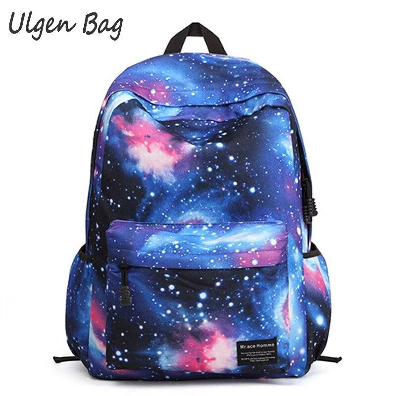 Fashion Multicolor Women Canvas Backpack Stylish Star Universe Space Backpack students School Backbag Mochila Feminina<br><br>Aliexpress