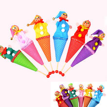 1Pcs Random Style Bell Hide Seek Pop Up Telescopic Baby Kids Educational Toys Hand Puppet telescopic stick doll