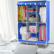 Finether  Portable Closet Storage Organizer Fabric Wardrobe Canvas Wardrobe Storage Home Furniture Organizer for cosmetics