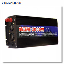 Free shipping 3000W DC12V to AC220V Pure sine wave high frequency inverter backup uninterruptible power supply solar power