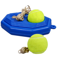 Hot! Blue Training Equipment Machine Plastic Pedestal Base For Tennis Ball Self-study Rebound Balls Sparring Device(China)