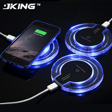 Buy JKING Wireless Charger QI Charging Pad iPhone X 8 Samsung Note8 S8 S7 S6 Edge Desktop Charger Fast Wireless Charging Charger for $2.99 in AliExpress store