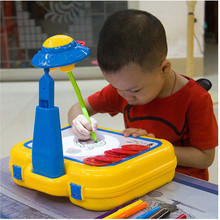 Development Painting Project Toy Table Birthday Gift Hot Sale Multifunctional Learning Drawing Desk For Children Kid Favor(China)