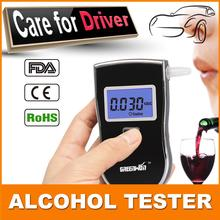 In the sell like hot cakes...High-grade alcohol tester police black digital alcohol breath analyzer test for the alcohol tester