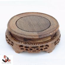 carving round base Solid wood vases, wooden arts and crafts household act the role ofing is tasted furnishing articles