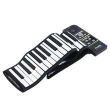 Portable Flexible 88 Keys Keyboard Piano 28 Tones 100 Rhythms Electronic Roll Up Piano USB & MIDI Port with Speaker for Kids(China)