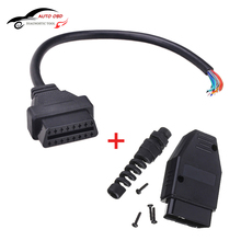 Universal OBD2 (M+F) Male + 16 pin Female Open Extension Connector Cable Assembly OBD 2 OBD II Diagnose Adaptor J1962 Free Ship(China)