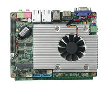 For all-in-one pc board Embedded Server motherbord Support 24bit dual channel LVDS with 3MB, CPU integrated(China)