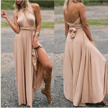 Top Selling Style Method Of Multi Rope Cross Bandage Dress Sexy Halter Dress Long Dress Summer Dress free shipping 2017