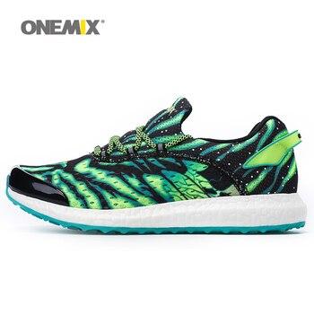 Nuevos hombres de los zapatos corrientes onemix cómodo zapatos para correr para hombre zapatos para caminar al aire libre de luz luminosa de los hombres sneaker ee.uu. 6.5-11