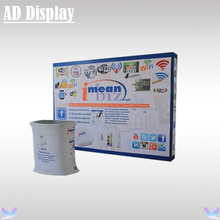 10ft Straight Pop Up Fabric Banner Advertisinig Display Wall With Portable Tension Fabric Square Table(Include Printing)