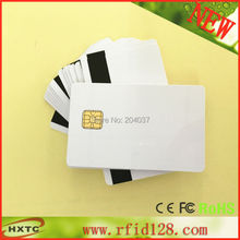 50pcs PVC card with SLE4428 chip contact smart card hotel key card ISO7816 with Hico magnetic stripe