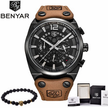 BENYAR Mens Watches Military Army Brand Luxury Sports Casual Waterproof Male Watch Quartz Stainless Steel Man Wristwatch XFCS