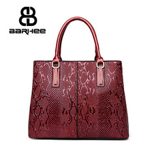BARHEE Luxury Design Women Handbag Patent Leather 3D Embossing Solid Tote Bags Large Women Messenger Bag Red Blue Black