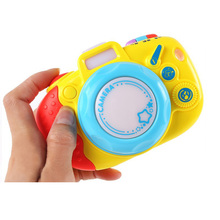 Children Glowing Camera Toys For Boys And Girls Luminous Camera modeling Toys Music Early Education Children Rhymes Machine(China)