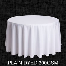 Big Size Polyester White Round Table Cloth Wedding Tablecloth Party Table Cover Square Dining Table Linen Rectangular Wholesale