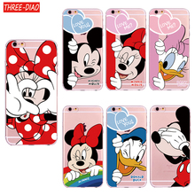 Buy THREE-DIAO Cartoon Mickey Mouse Mirror Phone Cases iPhone 6 6s Plus SE 5S Silicone Soft Back Cover iPhone 7 8 Plus Case International Co., Ltd.) for $1.28 in AliExpress store