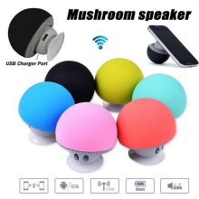 2016 New Cute Mushroom Speaker Mini Portable Bluetooth Wireless Loud Speakers with Mic Suction Cup Stereo Subwoofer for Phone PC