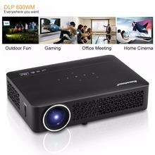 Excelvan DLP800WM Projector Android 4.4 400ANSI Lumens WIFI/Bluetooth/3D/Miracast/USB /SD/RJ45/VGA/HDMI/AV HD Theater Proyector(China)