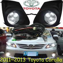 Corolla fog light ,2011~2013 year;Free ship! Corolla daytime light,2ps/set+wire ON/OFF;LED,Corolla wheel hub