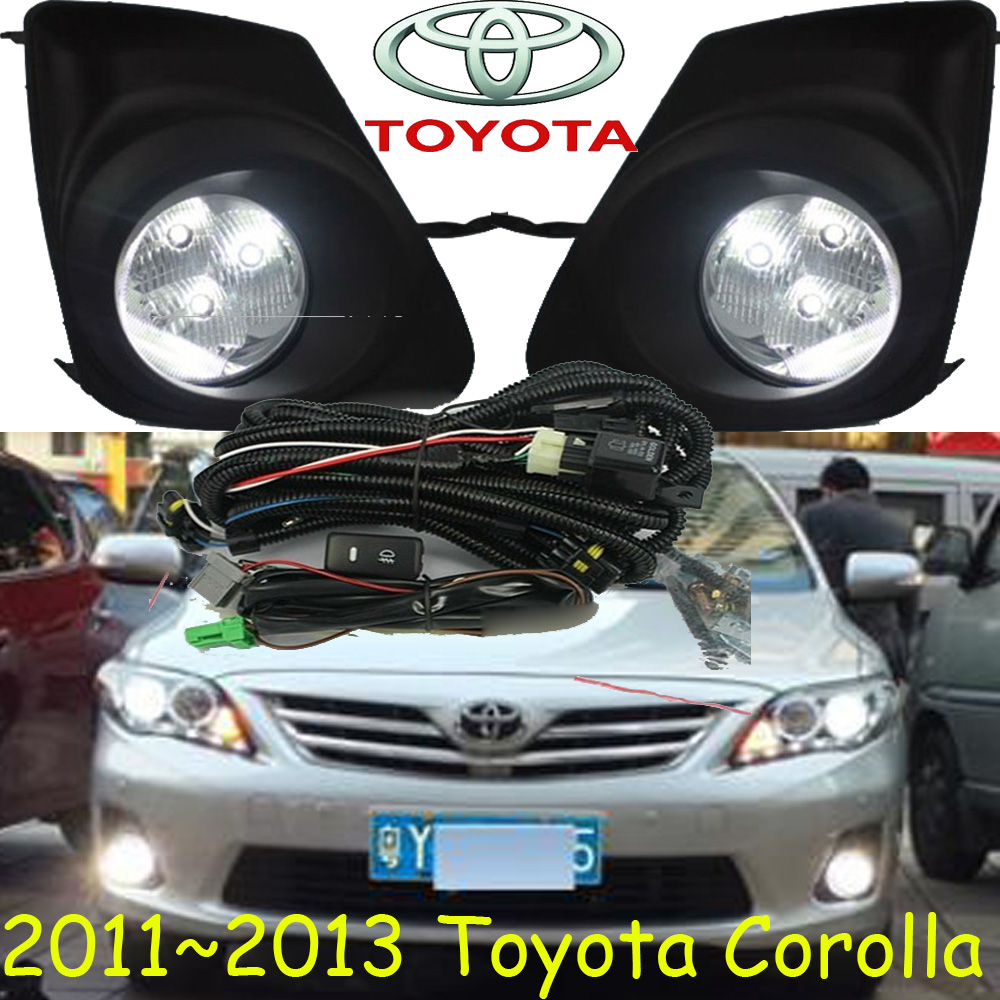 Corolla fog light ,2011~2013 year;Free ship! Corolla daytime light,2ps/set+wire ON/OFF;LED,Corolla wheel hub<br>