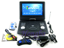 Free shipping to RU !13.8 Inch Portable DVD Player With Game and radio Function,  Game Function, Support SD / MS / MMC Card