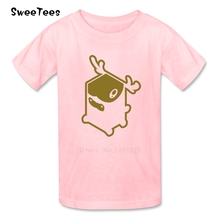 Cube Animals Elk Children T Shirt Cotton Short Sleeve O Neck Tshirt Clothes Boys Girls 2017 Best Selling T-shirt For Kids