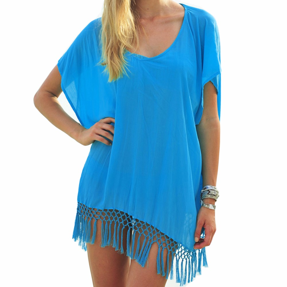 New-Hollow-Out-Beach-Dress-Bathing-Suit-Cover-Up-Female-Tunic-Sexy-Swimwear-Summer-Crochet-Bikini