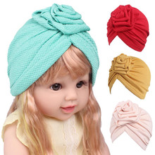 2017 Best Sale Children Girls Boho Hat Beanie Scarf Turban Head Wrap Cap crinkle hijab headscarf bandanas deportivas diademas(China)