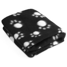 Pet Dog Cat Paw Printed Fleece Cozy Couture Blanket Mat Lovely Design(China)