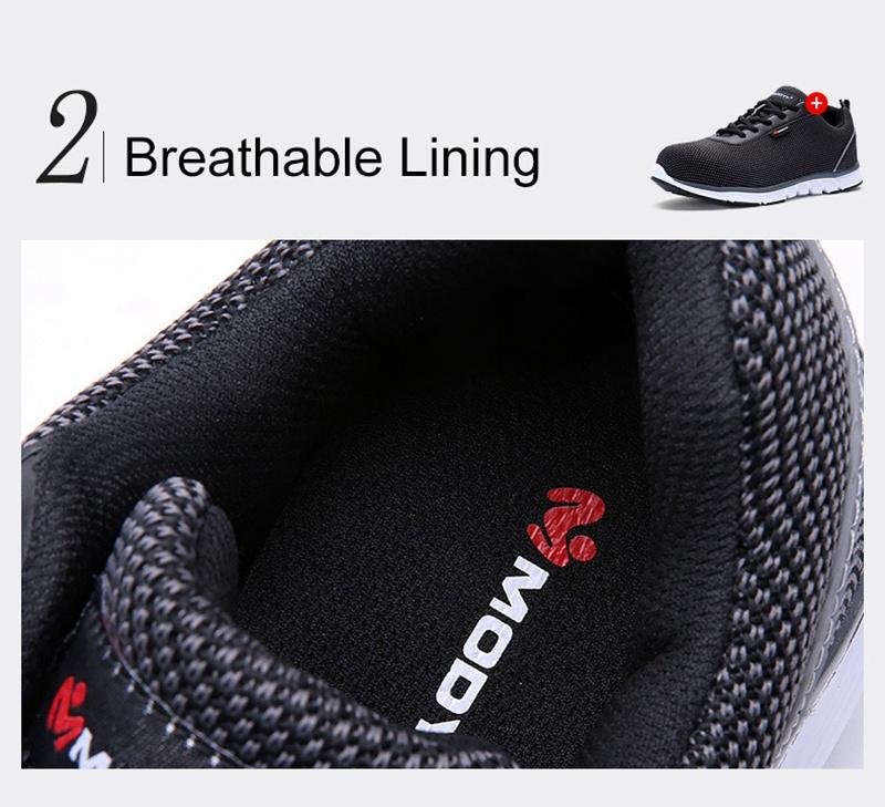 MODYF Men Safety Steel Toe Work Shoes Lightweight Breathable Casual Footwear 11