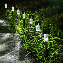 Solar Lawn Lamp Solar Powered LED Path Light Outdoor Waterproof Stainless Steel Pathway Landscape Lighting For Yard Garden Decor(China)