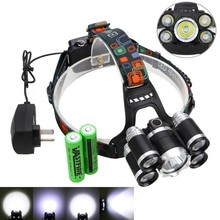 New 20000Lm XM-L T6 Rechargeable led Headlamp Waterproof Headlight Torch With Car /AC Charger 18650 Battery Pack(China)