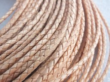 Z-4149 Bulk 50m/lot 3mm braided leather cord jewelry accessories(China)