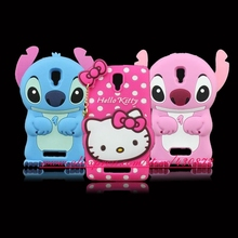 For Lenovo A1000 Hot 3D Silicon Cute Stitch Hello Kitty Cat Unicorn Soft Phone Back Skin Cover for Lenovo A 1000 A2800 Case